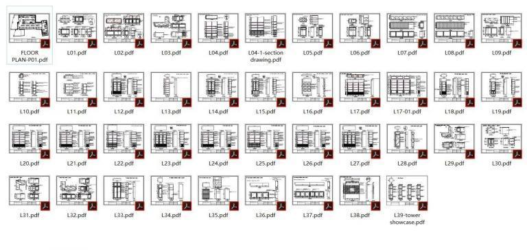 technical drawings of jewelry store showcase_ujoydisplay