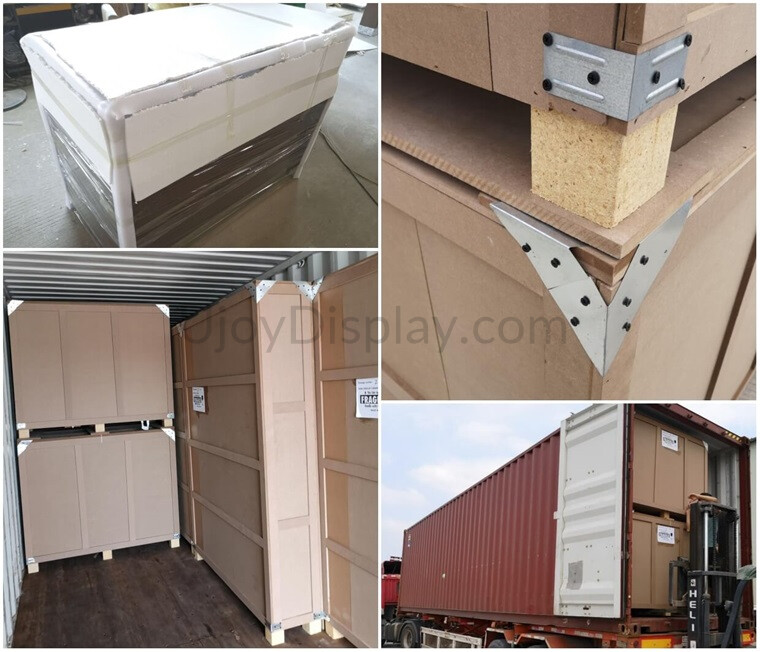 jewelry kiosk packaging and container loading_ujoydisplay