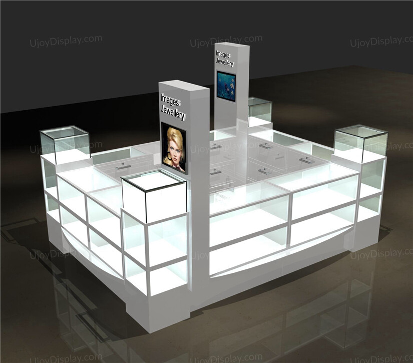 modern jewelry kiosk