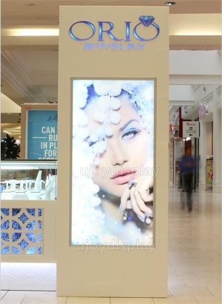 jewelry kiosk signage cabinet